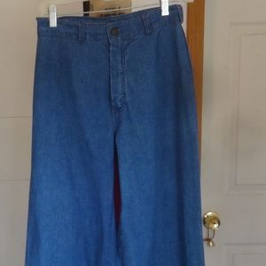 Vint. 1973 Blue Jean Bell Bottoms-Gt. Britain